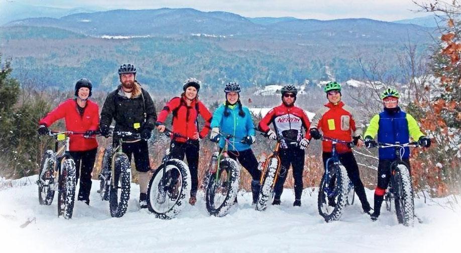 Winter Fat Biking at Catamount