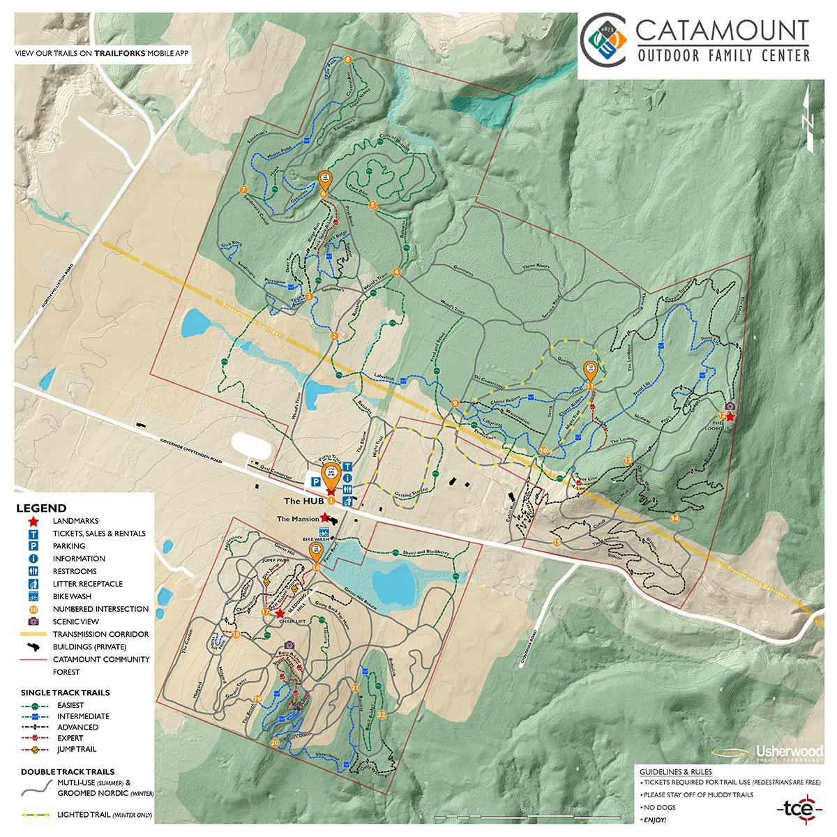 Catamount Trail Map 2021